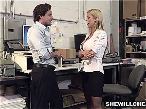 SheWillCheat - busty cougar chief boinks fresh employee