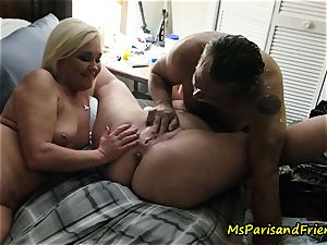 drizzling Swingers sex with Ms Paris and mates
