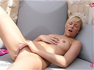 MyDirtyHobby - steaming blond jacking outdoor!