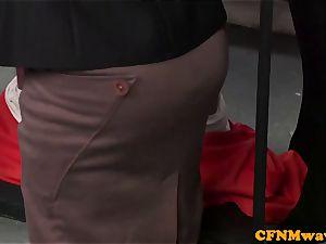 brit dom CFNM police stunner humiliate prisoner