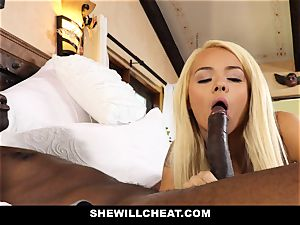 SheWillCheat hotwife wife devours dark-hued shaft