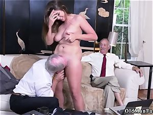 daddy pal s associate fledgling hardcore Ivy amazes with her immense hooters and bootie