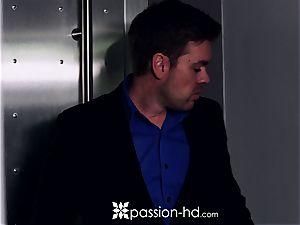 PASSION-HD Mid masturbation shag with Elsa Jean