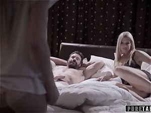 unspoiled TABOO weirdo Parents penetrate shy Foster daughter