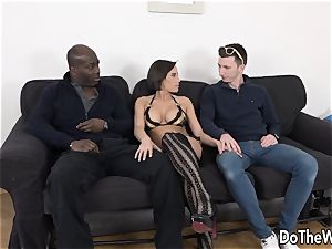 wife Takes It Up the donk from a dark-hued stud