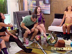 ebony couple joins inexperienced swingers