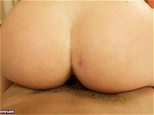 jaw-dropping Kathia Nobili deep gullets a big penis