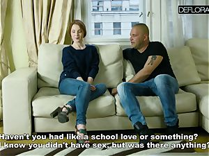 red-haired Mila loves big man-meat
