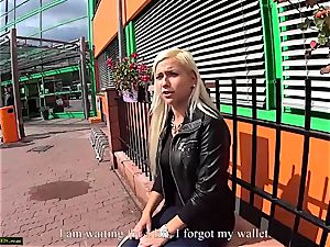 two damsels on public have sex for shopping free
