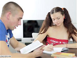 Undergraduate seduced by the appetizing Russian female Alena