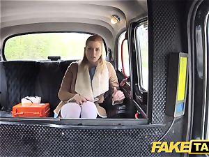 faux taxi Nurse in wonderful underwear has car fuck-a-thon