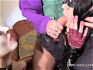 three-way with Harley and Catwomen