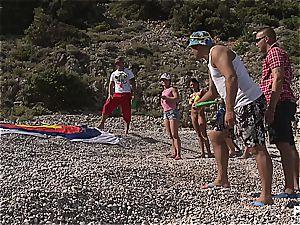 wild gang fuckfest tournament on the beach part 1