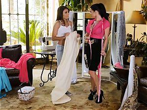 Adria Rae seduced by wondrous seamstress Veronica Avluv