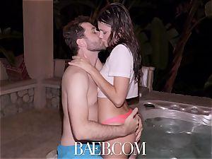 BAEB Pool boink and facial cumshot with stunner Adria Rae