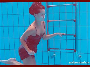 smooth-shaven sweetheart Nata Szilva is a mermaid