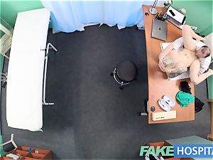 faux clinic Flirty inked minx requests rapid lovemaking