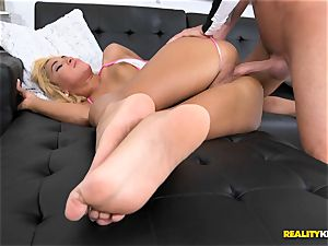 uber-sexy blond Chanel Collins gets naughty