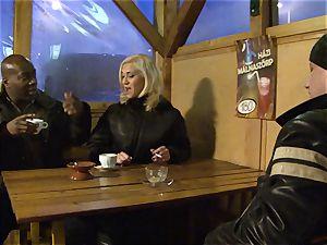 ash-blonde interracial ass fucking pulverized gobbling cum snatch nail