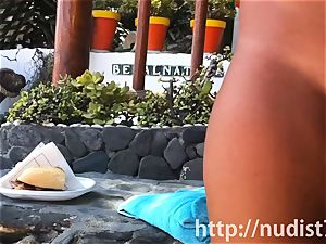 Spying on a cute sweetheart at the naturist beach hidden cam cam