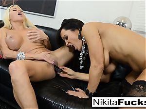warm Russian Nikita Von James pulverizes porno vet Lisa Ann