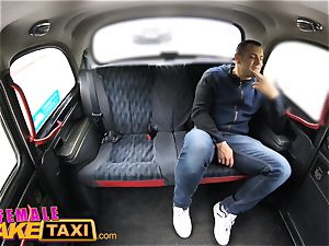 girl fake cab Tourist creampies and gets a wet labia