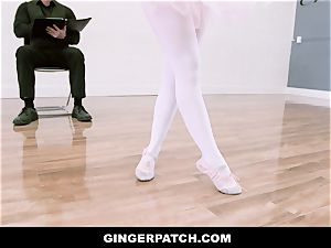 GingerPatch - ginger-haired Ballerina railing Judges ample stiffy