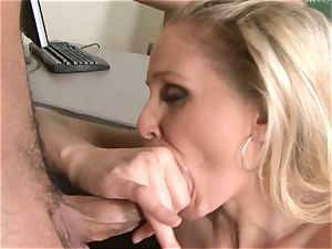 Julia Ann is a hard-core milf who wants to put her gash on a firm chisel