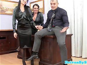 euro assfucking threesome with Anissa Kate