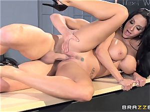 huge-boobed teacher Ava Addams is pulverized by her college girl