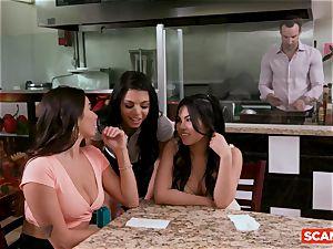 SCAM ANGELS - Karlee Grey and Gina Valentina group hookup