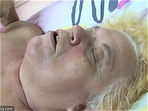 OldNanny grandmother and mature jacked hairy vagina
