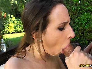 immense congenital bra-stuffers Ashley Adams thrashed in her molten vulva