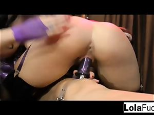 Lola gets dominated and lashed