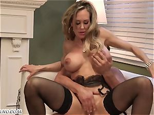 Mature nymph Brandi enjoy loves young guys and hookup with them