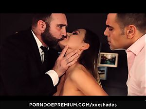 hardcore SHADES - Tina Kay double penetration and oral job in MMF fuck fest
