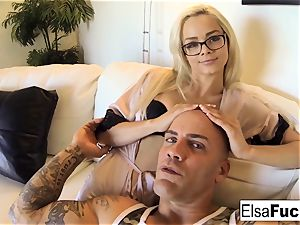 point of view poke session with Elsa Jean
